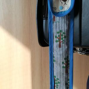 30cm竹ものさし入れの作り方★ランドセルにひっかけられる!!小学2年生向け♪お気に入りの虫柄オックスで作りました!!