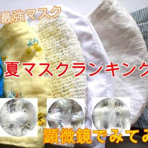 【夏マスクランキング】夏用の涼しく使える生地素材のおススメの組み合わせ、呼吸のしやすい最強ナツノマスクを発表します!!顕微鏡画像つき!!
