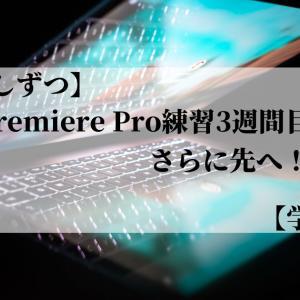 【少しずつ】Premiere Pro練習3週間目!さらに先へ!【学習】