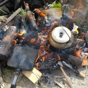 涼しくなったので 息子と焚火行ってみた!