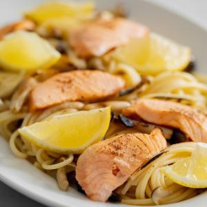 サーモンとレモンのクリームパスタのレシピ・作り方