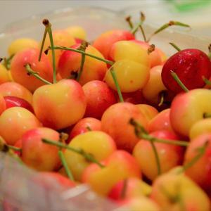 Hundreds of cherries full of happiness
