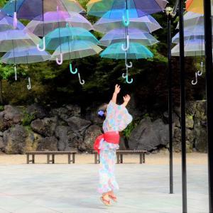 Let's jump! HATTASAN Umbrella Sky