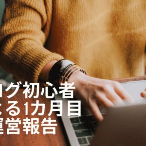 【運営報告】初心者が雑記ブログを運営してみた1カ月間の結果は?アクセス数・収益も公開!