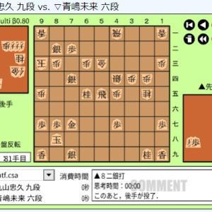 叡王戦本戦~青島未来六段