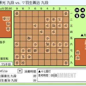 順位戦A級第1回戦~佐藤康光九段vs羽生善治九段