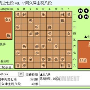 NHK杯将棋トーナメント1回戦第11局~阿久津主税八段