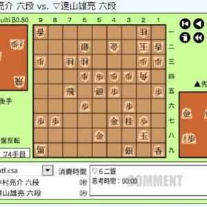 順位戦C級2組4回戦~中村亮介六段vs遠山雄亮六段