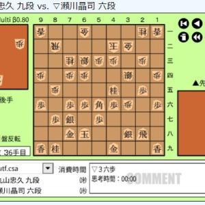 朝日杯将棋オープン戦一次予選~瀬川晶司六段vs丸山忠久九段