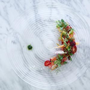 すいかとメロン、トマトのサラダ仕立て ピストゥ