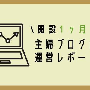 【主婦ブログ運営報告】開設1ヶ月目のアクセス数・PV数・収益まとめ