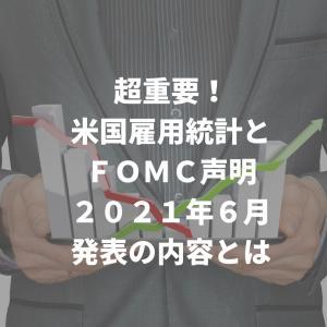 超重要!米国雇用統計とFOMC声明 2021年6月発表の内容とは