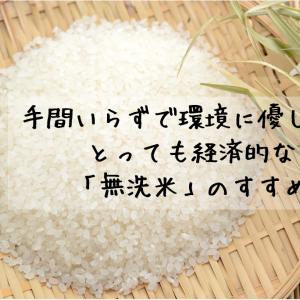 手間いらずで環境に優しい!?とっても経済的な無洗米のすすめ。