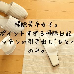 """掃除苦手女のピンポイントすぎる掃除日記【3】「キッチンの引き出し""""ひとつ""""」のみ。"""