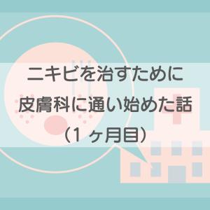 【体験談】ニキビを治すために、皮膚科に通う事にした!(〜1ヶ月目)