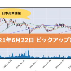 【日本商業開発】ピックアップ銘柄(2021年6月22日)