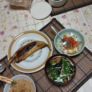 父と二人だけの夕食5 ~冷凍した干物の焼き方~