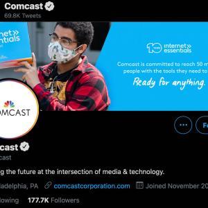 米国株銘柄:[CMCSA]Comcast Corp(コムキャスト)、ケーブルテレビや3大ネットワークのNBCを保有