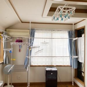 【部屋干しアイデア】転勤族で賃貸戸建てに住む我が家。部屋干しの定位置は浮いています!!
