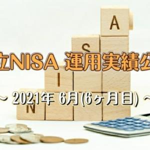 【積立NISA】運用実績を公開します 2021年6月(6ヶ月目)
