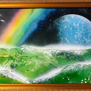 【NO.21 魂のspray art〜貴方の宇宙描きます〜イニシャルM.Eさん】