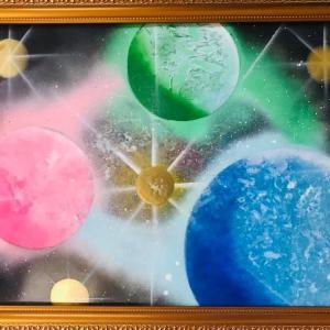 【NO.22 魂のspray art〜貴方の宇宙描きます〜イニシャルT・Mさん】