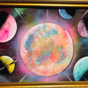 【NO.26 魂のspray art〜貴方の宇宙描きます〜イニシャルM・Iさん】