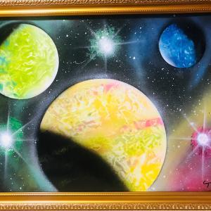 【NO.41 魂のspray art〜貴方の宇宙描きます〜イニシャルA・Nさん】
