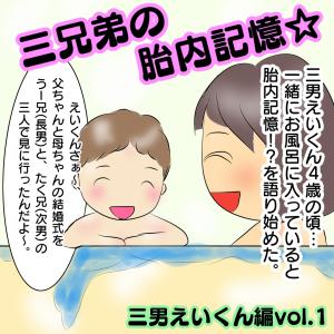 三兄弟の胎内記憶!?三男えいくん編vol.1