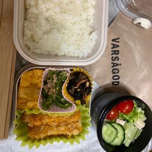 中一★私立・今日から通常授業・お弁当