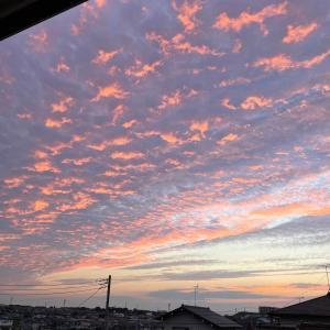 息子の部活引退と夕方の空