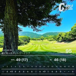 40yくらいのアプローチが課題  富士見ヶ丘カントリー