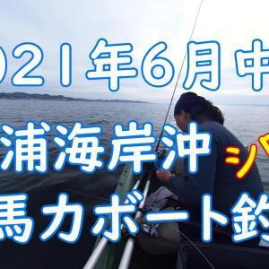 2馬力ボート釣行動画 2021年6月8日 三浦海岸 シロギス釣り 貧果 その2