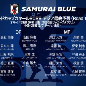 9月に開催予定の ワールドカップ アジア最終予選の 日本代表 メンバーが発表された!