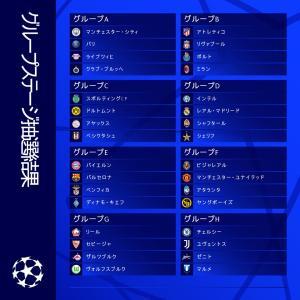 2021/22シーズン 欧州CL グループステージの組み合わせが決定!