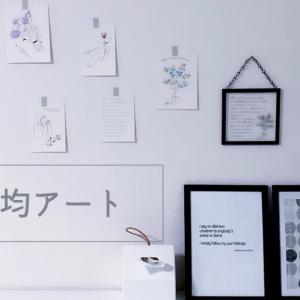 ダイソーで大人気のインテリアカードとフレームで壁際をシンプルに飾る!
