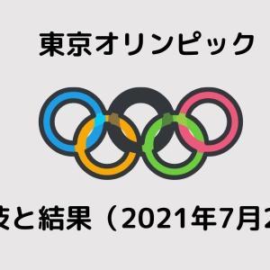 東京オリンピックのおもな競技と結果(2021/07/25)