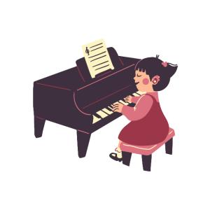 ピアノの先生と家内とトトロ