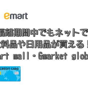 【韓国留学】隔離期間中でもネットで食料品や日用品が買える!(emart mall・Gmarket global)