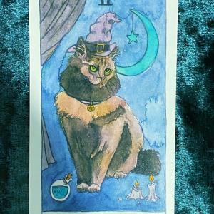 今日の猫のタロット【女教皇】