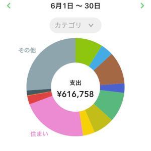 6月分家計簿公開!!