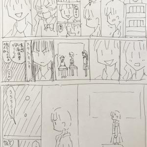 少女マンガの作り方冒頭ダメパターンを見比べる資料も描いていた