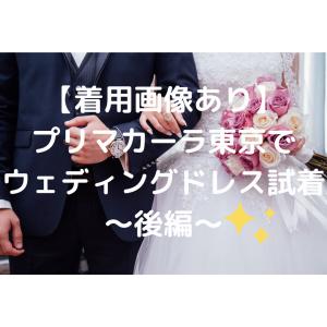 【着用画像あり】プリマカーラ東京でウェディングドレス試着~後編~