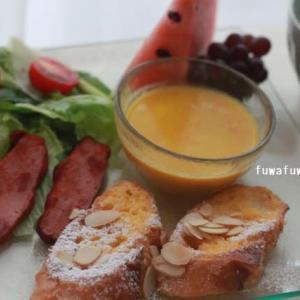 フレンチトースト かぼちゃスープ♪