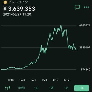 ビットコインの価格の変動が激しい。感想。