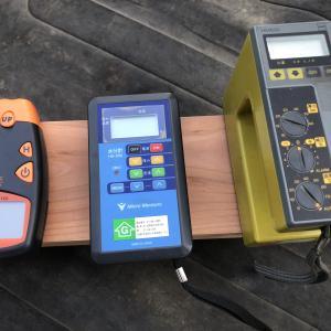 木材の含水率を水分計を使って調べてみる