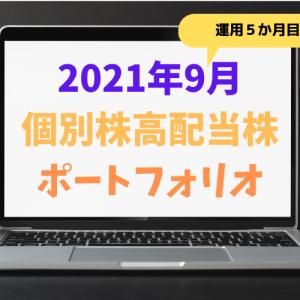 【2021年9月】個別株のポートフォリオ・損益公開!