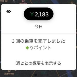 【ウーバー】久々の仕事あがり稼働(2021/07/16)