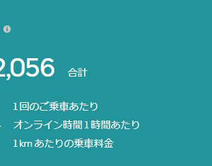【ウーバー】秋の夜は配達日和(2021/09/24)