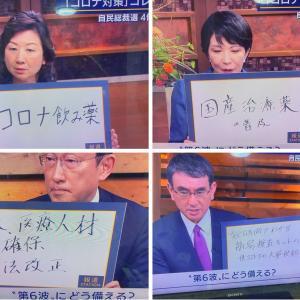 【勝手に筆跡診断】自民党総裁選立候補者4名